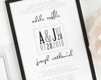 Modern Logo Wedding Invitations - Deposit