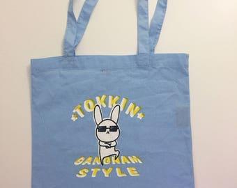 DISCOUNTED OOPS/FLAWED Korean Pop Gangnam Style Tote Bag, Gangam Style