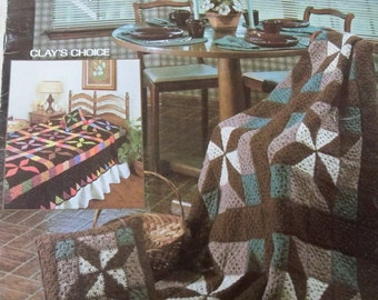 Crocheted Patchwork Grannys for Afghans, Pillows and Bedspreads - Leisure Arts Leaflet 267 - Clay's Choice in Twin to Queen Size Spread,