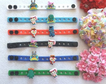 10 Sheriff Callie Silicone Charm Bracelets Party Favors