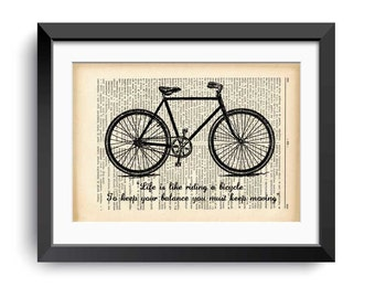 Bicycle Wall Art bicycle quote | etsy
