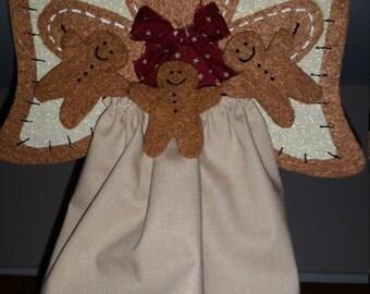 Gingerbread Angel Tree Topper / Sitter