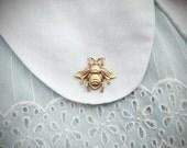 beekeeper - golden honey bee brooch