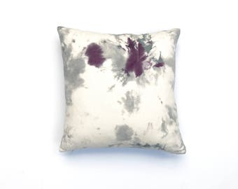 Hand dyed Throw Pillow with Purple and Gray Pillow Cover Decorative Throw Pillow 20 x 20 Cushion Cover Black Cherry 3