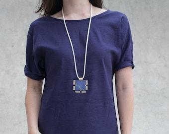 Square Lapis Lazuli Necklace