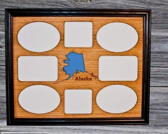 11x14 Alaska State Picture Frame, Alaska Wall Decor, Alaska Gift, Alaska Memories, Travel Picture Frame, Traveler Gift