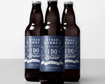 I Do Brew, Beer Labels, Wedding Beer Favors, Custom Beer Labels, Beer Sticker home brew label engagement party beer label beer wedding favor