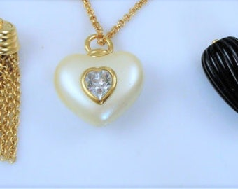 Joan Rivers Heart Necklace Set - Goldtone  - S2029