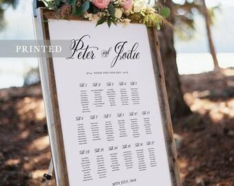 PRINT Wedding Seating Plan - Calligraphic style