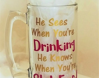 Beer Mugs, Funny Beer Mug, Mugs With Sayings, Barware, Glasses, Beer Glasses, Mugs, Christmas Gift for Men, Gifts for Dad, Drinking Mug, Mug