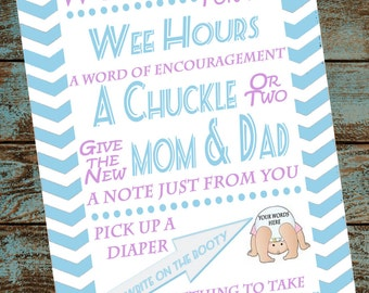 Diaper Words Sign