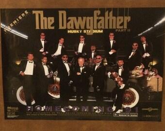 "University of Washington football "" Dawgfather Part II Poster"""