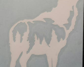 Elk Car Vinyl Decal, can be personalized