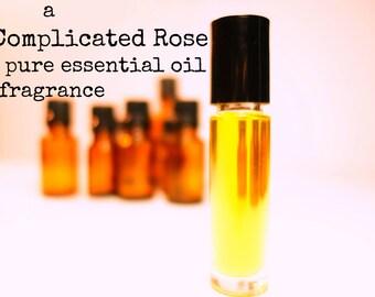 Organic Rose Perfume   Essential Oil Perfume   Rose Oil   Perfume Oil   Natural Perfume Oil   Organic Perfume   Roll On Perfume   Rose Scent