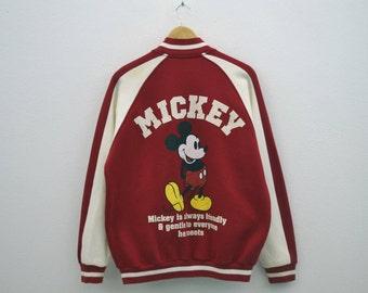 Mickey Mouse Jacket Mickey Mouse Bomber Jacket Mens Size L