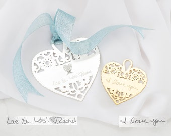 Custom Christmas Ornaments • Handwriting Personalized Love Ornaments • Personalized Keepsake Gift • Memorial Gift • Christmas Gift • CM23