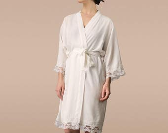 lace robe, bridal lace robebridesmaid lace robes bridesmaid robes lace,kimono robewith lace wedding robe bride robe lace cotton lace robe