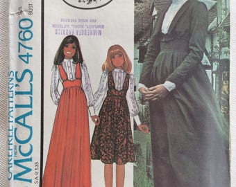 "McCall's Pattern 4760 - Laura Ashley Pattern - Misses' Blouse, Jumper, and Jacket  - Size 14/Bust 36""  UNCUT"