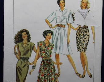 Woman's Dress Sewing Pattern in Size 6-14 - Simplicity 9611