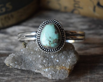 Large Turquoise Statement Cuff Bracelet Turquoise Cuff Bracelet Natural Royston Turquoise Bracelet