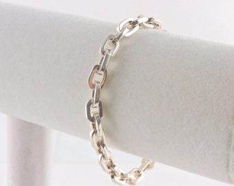 "Sterling Silver Chunky Link Toggle Bracelet 8"" (24.8 grams)"
