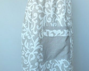 Bath Wrap, Sauna Wrap, Shower wrap, Spa wrap, Linen Women Towel with pocket