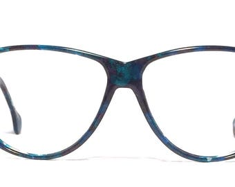 Vintage eyewear. Made in Germany. 1980's. Enrico Coveri. Stunning shades of blue! Excellent quality and condition! Women High Fashion Beauty