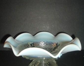Vintage Elegant Maker White Opalescent Bowl