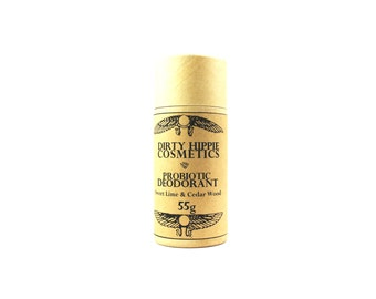 Natural Probiotic Deodorant • Aluminium and Toxin Free • Eco Tube or Pit Paste • 80g/95g/145g