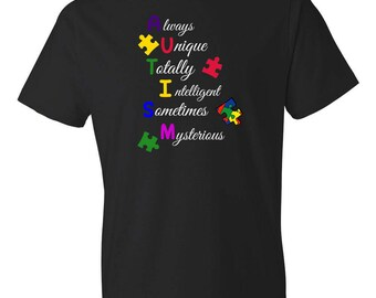 Autism Shirt- Autism Awareness Shirt - Autism Mom - Autism Dad - Puzzle Piece - Special Education Teacher Shirt - Aspergers Shirt - ASD