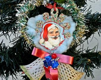 Antique Christmas Decor, Victorian Christmas Ornament, Santa Ornament, Antique Ornaments, Christmas Tree Decor, Vintage Christmas Decoration