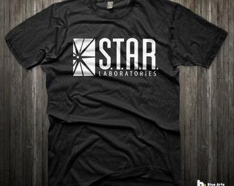 Star Labs Shirt The Flash Barry Allen T-Shirts Reverse Flash DC comics