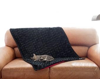 Dog black blanket, pet blanket, cat blanket, pet protective blanket, soft and warm blanket, dog bed, dog blanket