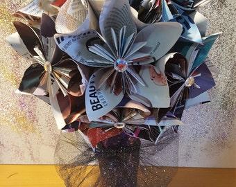 Beauty Magazine Paper Flower Bouquet