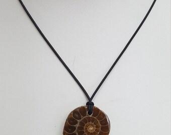 Ammonite Pendant Necklace (E17033)