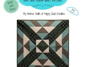 X Marks the Spot Quilt PDF Pattern, Baby / Toddler size, Throw Size, Quick, Easy, Beginner pattern, Novice Quilter, half square triangle