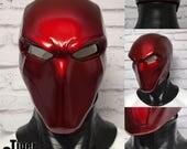 Red Hood inspired helmet (helmet only, neck piece not included) - Deep Metallic Red
