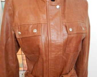 Vintage Vera Pelle Italian Leather Jacket