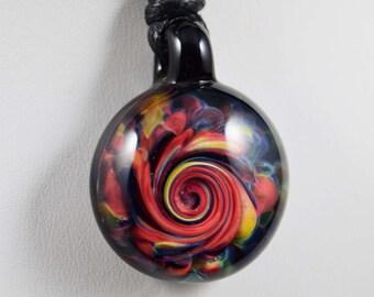 Borosilicate Glass Twisted Frit Pendant