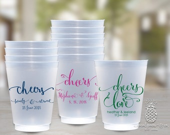 Cheers Wedding Party Cups