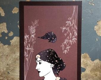 Virginia Woolf (Illustrated Literary Postcards & Prints: Writers)
