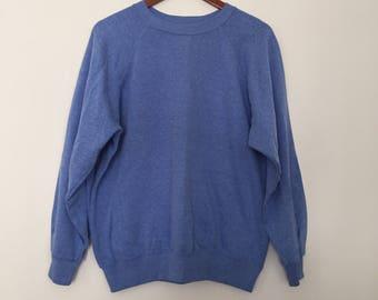 Vintage sweatshirt / blue sweatshirt / gray sweatshirt / 90s sweatshirt / 90s clothing / summer sweater