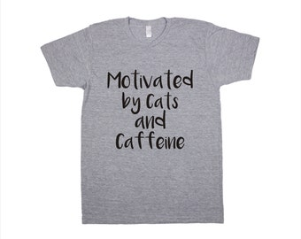 Coffee T-Shirt, Coffee Gift, Coffee Screen Printed T Shirt, Funny tshirts, Cat shirt, Funny tees, pet mom, unisex t shirt, cat lover gift