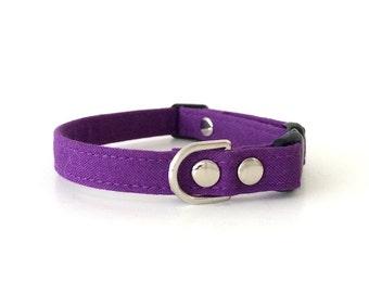 SAMPLE SALE Purple Cat Collar