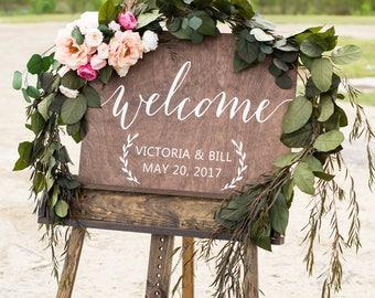 Wedding welcome sign, Welcome wedding sign, Welcome sign Wedding, Wooden Welcome Sign, Welcome sign for wedding, Wood Welcome Sign, Wood