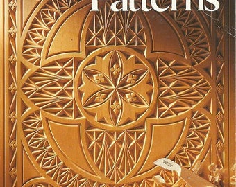 Vintage book wood carving patterns 20 realistic game and for Furniture carving patterns