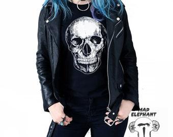 SALE Urban graphic tee t shirt with skull print womens street apparel