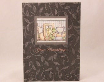 Among Friends Religious Greeting Cards. One Card and Envelope. Your Friendship