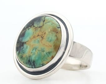 Turquoise Ring, Snowville Variscite, Variquoise, Sterling Silver Ring, Turquoise Jewelry, HandMade Silver Ring, Southwestern Jewelry