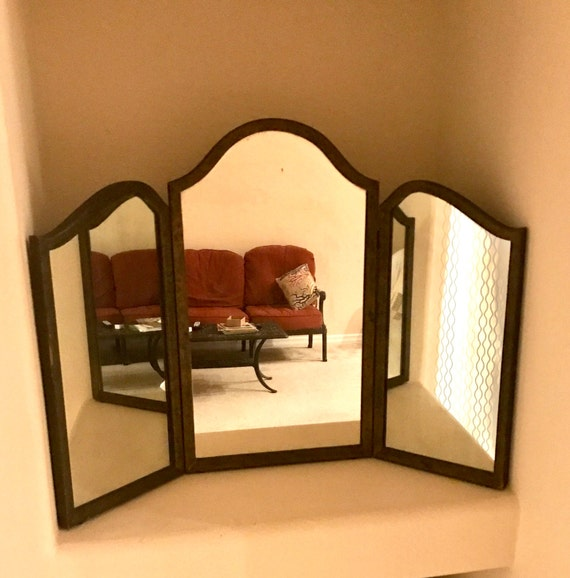 For Tatiana Payment 1 Of 2 Tri Fold Vanity Mirror Arched